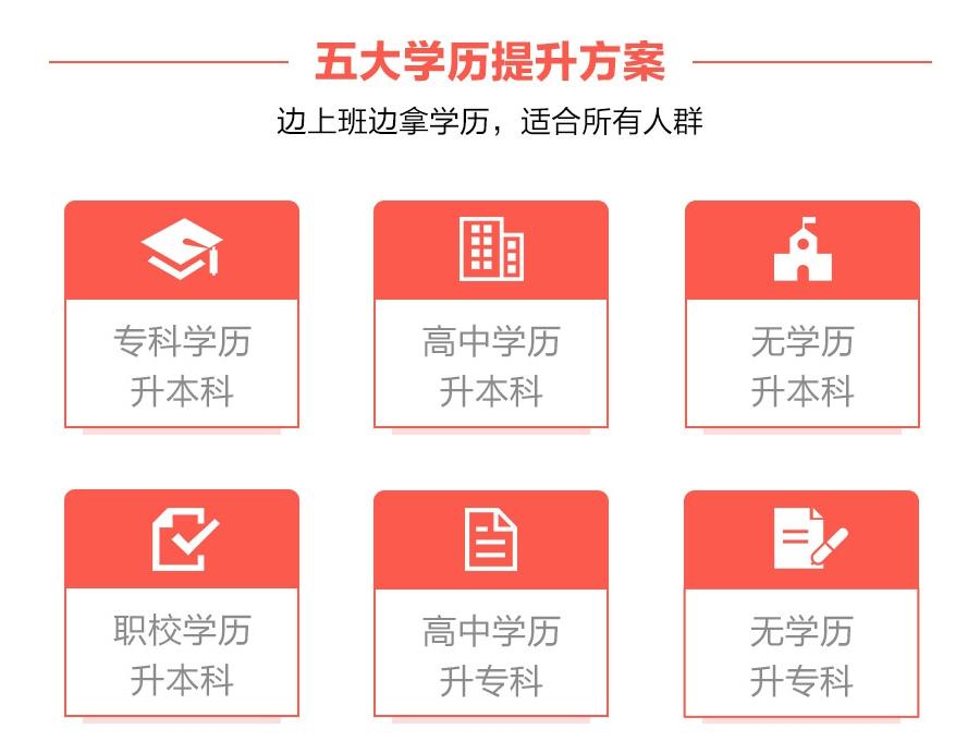 五大学历提升方案